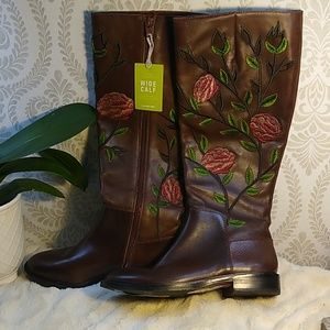 Gianni Bini Floral Wide Calf Boots